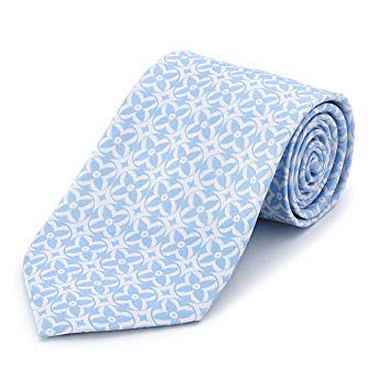 Bolvaint - Tabit Blue on White Silk Tie
