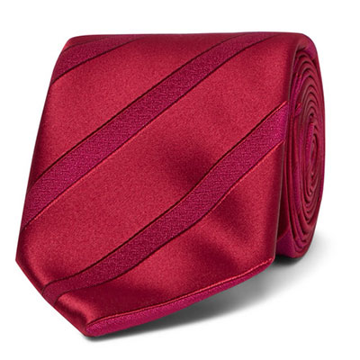 Charvet Striped Silk-Jacquard Tie