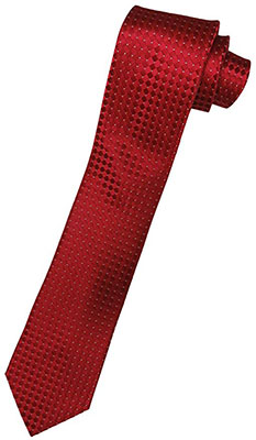 Donald Trump Neck Tie Red and Silver Diamond Pattern Tie