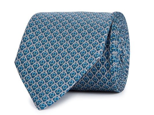 Salvator Ferragamo Teal Silk Tie